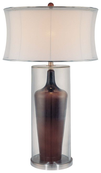 Minka Lavery 1 Light Table Lamp in Clear/Brown Inside Finish