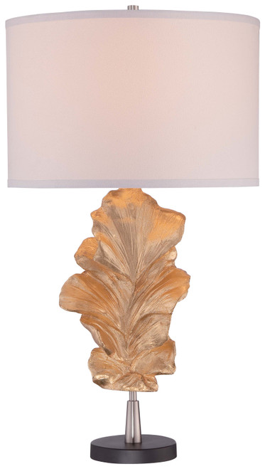 Minka Lavery 1 Light Table Lamp in Gold Leaf Finish