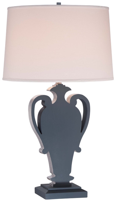 Minka Lavery 1 Light Table Lamp in Ocean Blue With Silver Leaf Highlights Finish
