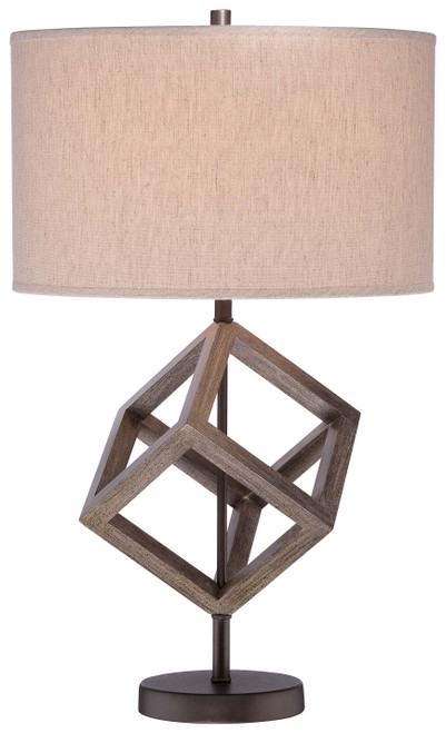 Minka Lavery 1 Light Table Lamp in Walnut Finish