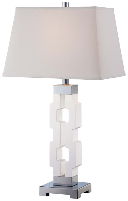 Minka Lavery 1 Light Table Lamp in White Finish
