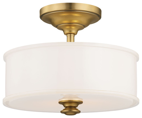 Minka Lavery Harbour Point 2 Light Semi Flush in Liberty Gold Finish