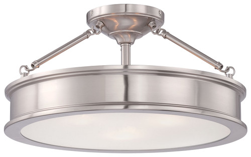 Minka Lavery Harbour Point Semi Flush in Brushed Nickel Finish