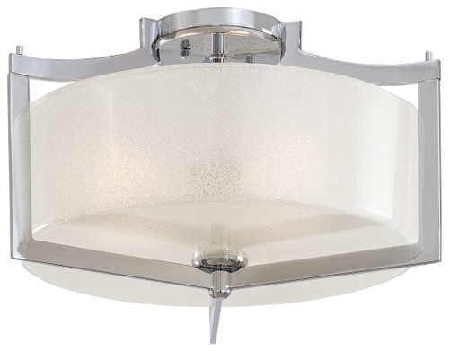 Minka Lavery Clart- 3 Light Semi Flush in Chrome Finish