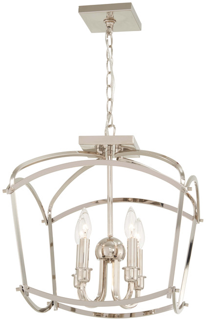 Minka Lavery Jupiter'S Canopy 4 Light Pendant(Convertible To Flush Mount) in Polished Nickel Finish