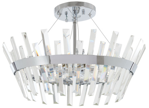 Minka Lavery Echo Radiance 6 Light Semi Flush in Chrome Finish
