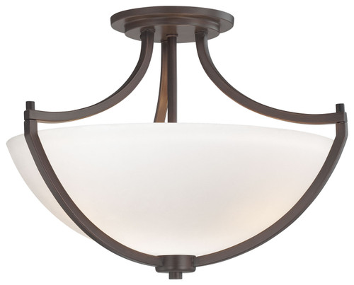 Minka Lavery Middlebrook 3 Light Semi Flush in Vintage Bronze Finish