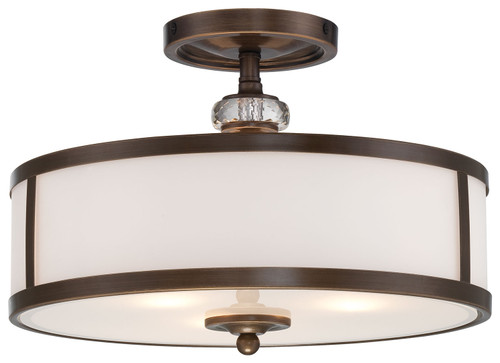 Minka Lavery Thorndale 3 Light Semi Flush in Dark Noble Bronze Finish