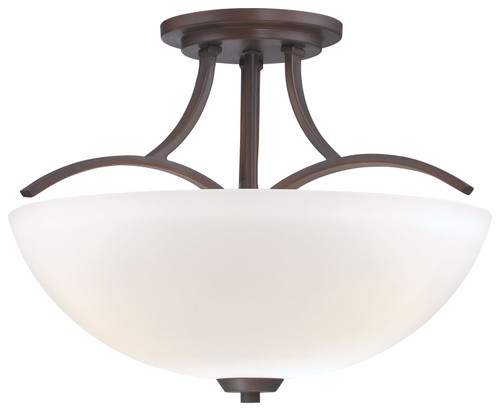 Minka Lavery Overland Park 3 Light Semi Flush in Vintage Bronze Finish