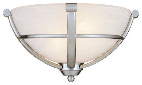 Minka Lavery Paradox 2 Light Wall Sconce in Brushed Nickel Finish