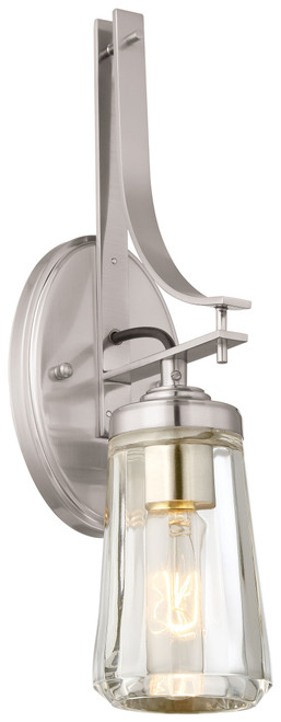 Minka Lavery Poleis 1 Light Bath in Brushed Nickel Finish