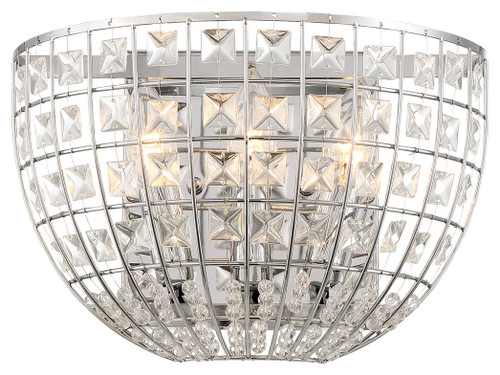 Minka Lavery Palermo- 2 Light Wall Sconce in Chrome Finish
