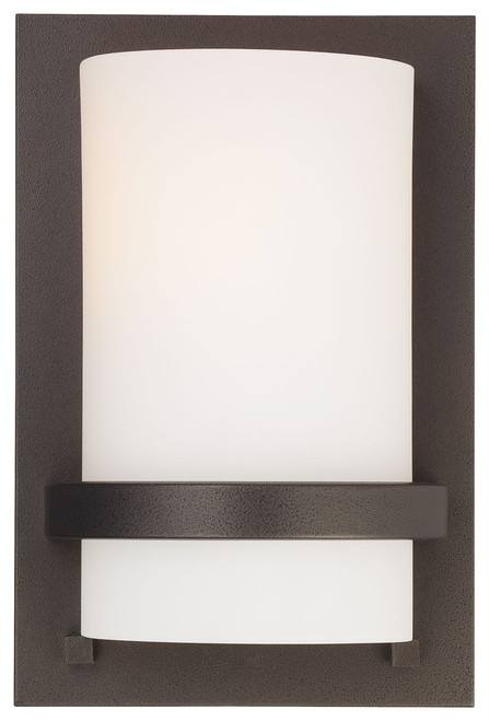 Minka Lavery Fieldale Lodge 1 Light Wall Sconce in Smoked Iron Finish