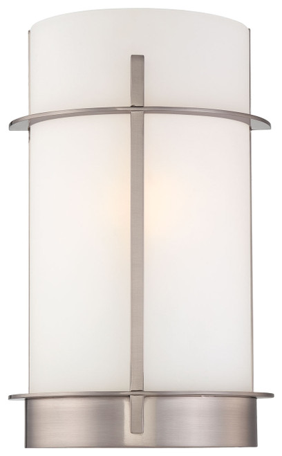 Minka Lavery 1 Light Wall Sconce in Brushed Nickel Finish
