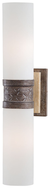 Minka Lavery Compositions 2 Light Wall Sconce in Aged Patina Iron Finish