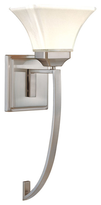 Minka Lavery Agilis 1 Light Wall Sconce in Brushed Nickel Finish