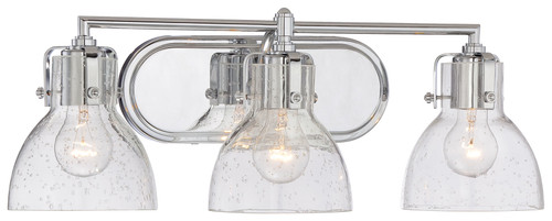 Minka Lavery 3 Light Bath Light in a Chrome Finish