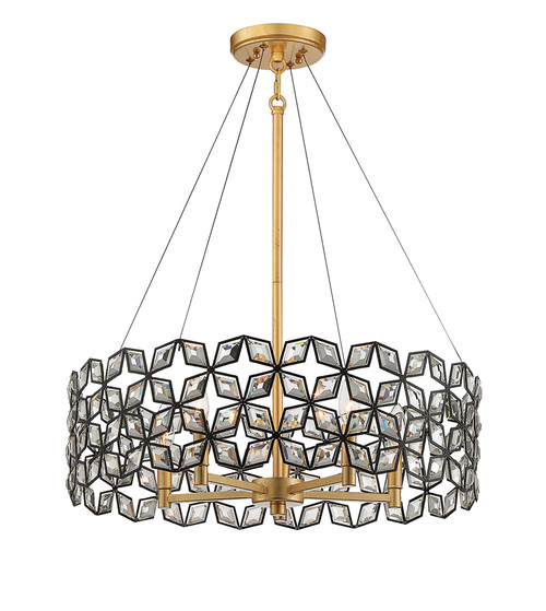 Metropolitan Brookcrest Collection Five Light Pendant