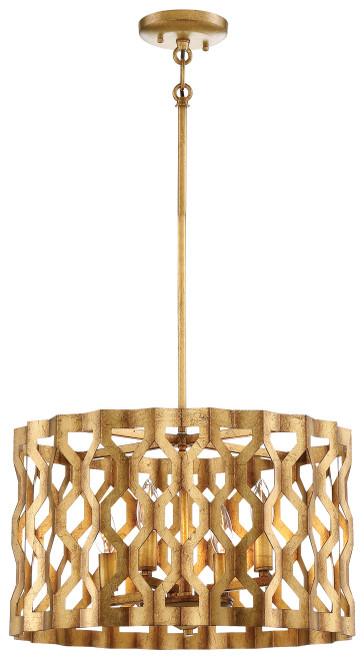 Metropolitan Coronade Collection 4 Light Drum Pendant