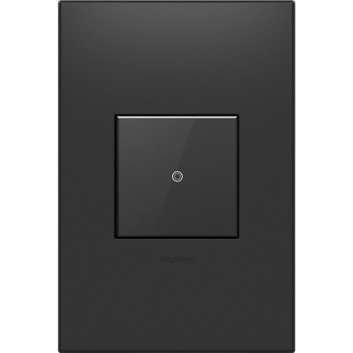 ASTH touch switch in graphite finish with matching wall plate