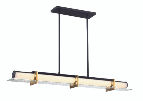 George Kovacs Midnight Gold Collection 1 Light LED Island Light with a Sand Coal and Honey Gold Finish