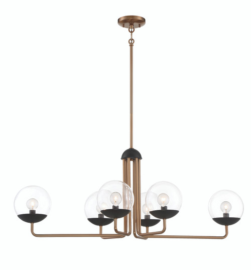 George Kovacs Outer Limits Collection 4 Light Island Light in Painted Bronze with Natural Bronze Finish