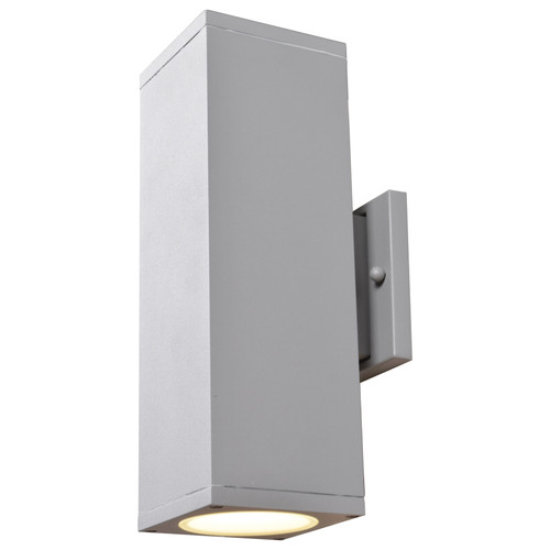 Access Lighting Bayside Collection Outdoor Square Cylinder Wall Fixture in Satin Finish