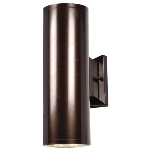 Access Lighting Sandpiper Collection Outdoor Round Cylinder Wall Fixture in Bronze Finish