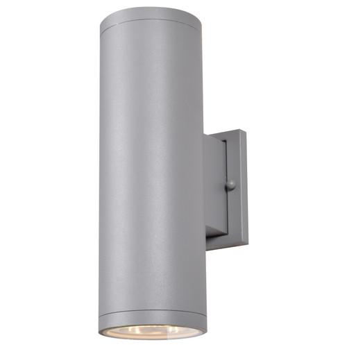 Access Lighting Sandpiper Collection Outdoor Round Cylinder Wall Fixture in Satin Finish