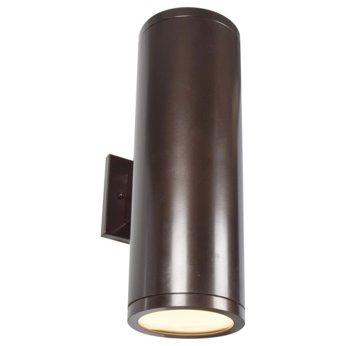 Access Lighting Sandpiper Collection 120-277v Outdoor Round Cylinder Wall Fixture in Bronze Finish
