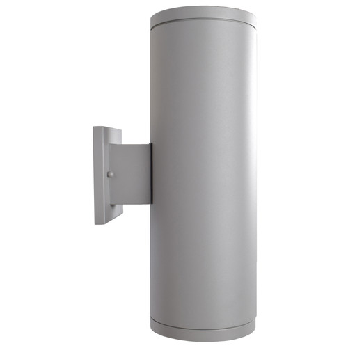 Access Lighting Sandpiper Collection 120-277v Outdoor Round Cylinder Wall Fixture in Satin Finish