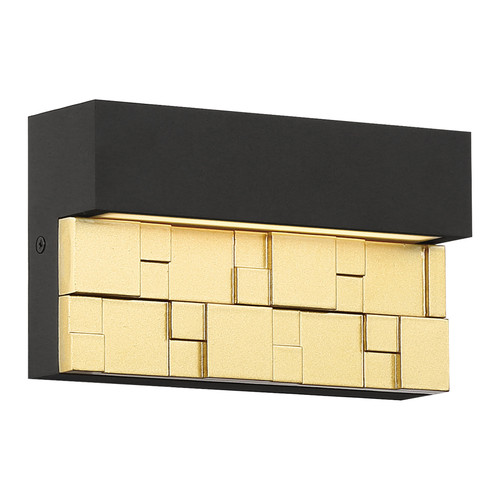 Access Lighting Grid Collection Marine Grade Outdoor Wall Sconce in Bronze with Gold Finish