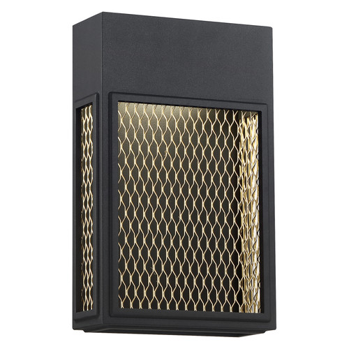 Access Lighting Metro Collection Marine Grade Outdoor Dimmable Wall Sconce in Black and Gold Finish