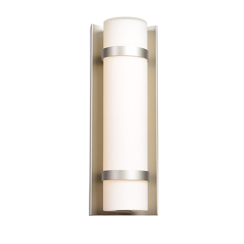 Access Lighting Cilindro Collection LED Outdoor Wall Fixture in Brushed Steel Finish