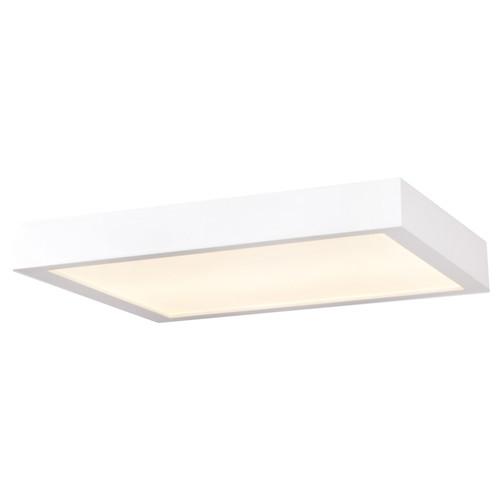 Access Lighting Ulko Exterior Collection LED Wet Location Flush Mount in White Finish