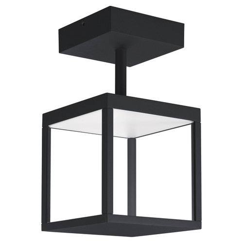 Access Lighting Reveal Collection 120-277v LED Outdoor Semi Flush in Black Finish