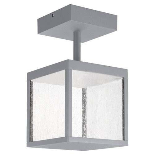 Access Lighting Reveal Collection 120-277v LED Outdoor Semi Flush in Satin Gray Finish