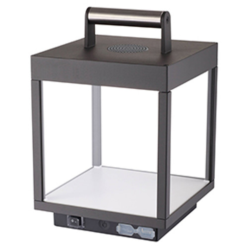Access Lighting Reveal Collection Portable LED Lantern with Bluetooth Speaker in Black Finish