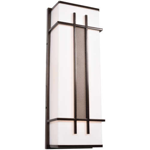 Access Lighting Tuxedo Collection LED Outdoor Wall Fixture in Bronze Finish