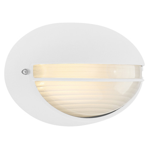 Access Lighting Clifton Collection Outdoor LED Bulkhead in White Finish