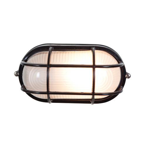 Access Lighting Nauticus Collection Wet Location LED Bulkhead in Black Finish