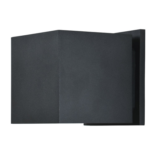 Access Lighting Square Collection Marine Grade Adjustable Wet Location LED Wallwasher in Black Finish