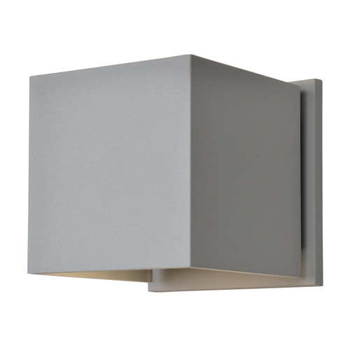 Access Lighting Square Collection Marine Grade Adjustable Wet Location LED Wallwasher in Satin Finish