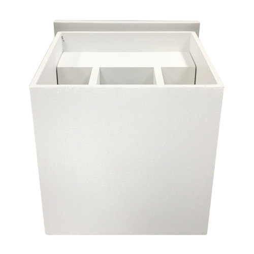 Access Lighting Square Collection Marine Grade Adjustable Wet Location LED Wallwasher in White Finish