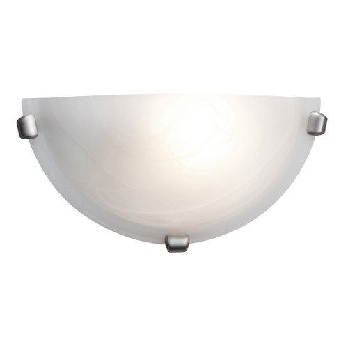 Access Lighting Mona Collection Wall Sconce in Brushed Steel Finish
