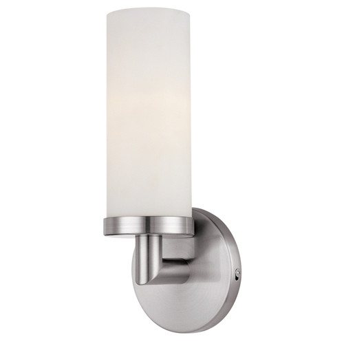Access Lighting Aqueous Collection 1-Light Wall Fixture in Brushed Steel Finish