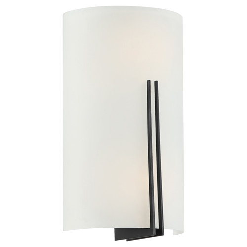 Access Lighting Prong Collection 2 Light LED Wall Sconce in Matte Black Finish
