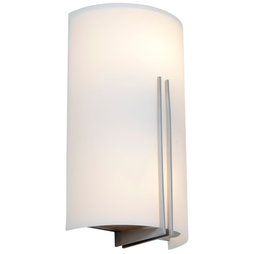 Access Lighting Prong Collection White Tuning LED Wall Fixture in Brushed Steel Finish
