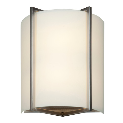Access Lighting Vector Collection White Tuning Dimmable LED Wall Fixture in Brushed Steel Finish