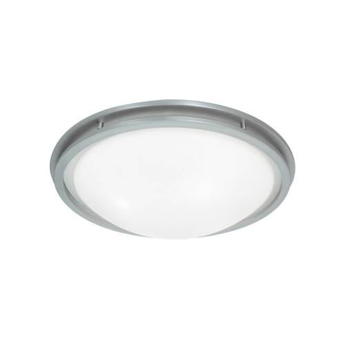Access Lighting Aztec Collection Flush Mount in Brushed Steel Finish